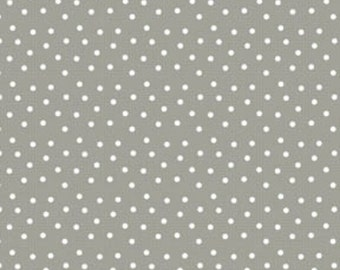 1 Yard of Pam Kitty Love Grey Dots on Check from Lakehouse Drygoods