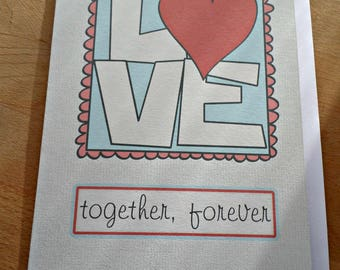 Valentine's Day greeting card - Love - 15cm x 21cm Valentine