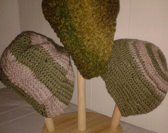 Moss Green Beret Hat