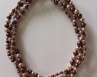 3 strand faux pearl  necklace