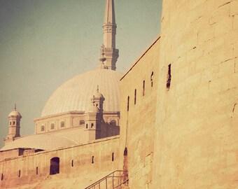 Cairo photography, Middle Eastern art, Egypt photograph, fine art print, travel photography, architecture, Arabian - Citadel