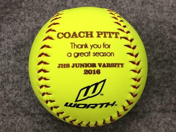 Personalized Softball Softball Coach Gift Custom Message