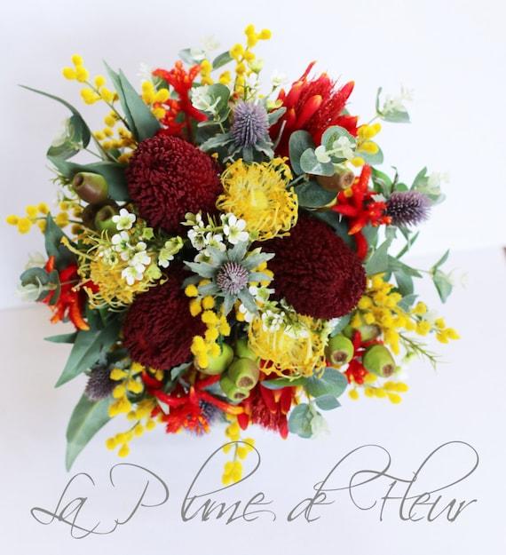 Australian native wedding bouquet. Native flower bouquet.