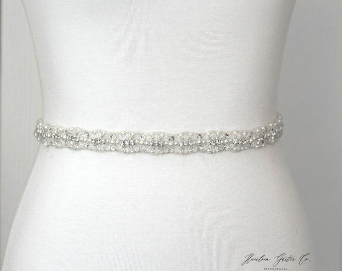 Rhinestone Belt, Crystal Bridal Belt, Bridal Sash, Wedding Belt, Wedding Sash Rhinestone Sash B39
