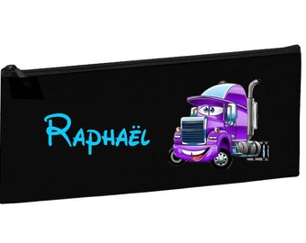 Kit school black truck personalized with name