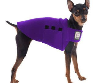 MINIATURE PINSCHER Tummy Warmer, Fleece Dog Coat, Sweater for Dogs, Dog Shirt, Fleece Dog Jacket, Dog Vest, Small Dog Clothing, Dog Clothes,