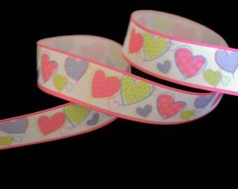 Heart Ribbon, Valentine's Day Ribbon, Love Ribbon, DIY Ribbon, Valentines Party, Favor Ribbon, Wedding Ribbon, Baby Shower Ribbon