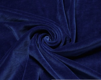 Fabric cotton polyester nicky china blue soft