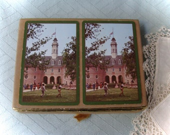Colonial Williamsburg Boxed Playing Cards Double Set Congress Vintage 1960's