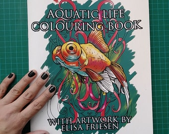 Aquatic Life Coloring Book