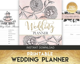 Wedding Organizer | Wedding Planner | Wedding Budget | Pink Wedding | Printable Wedding | Wedding Printable