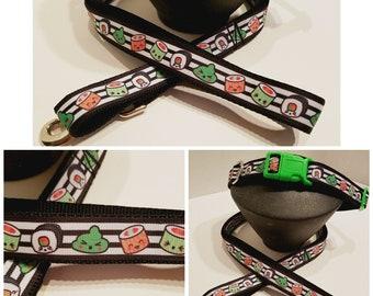 """Sushi Dog Collar - 1"""" Dog Collar - Gift for a Sushi Dog Lover - Dog Gifts - Dog Mom Gifts"""