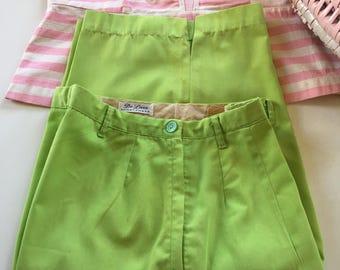 50s 60's Side Zip Bermuda Shorts by De Luxe Sportswear Rockabilly VLV