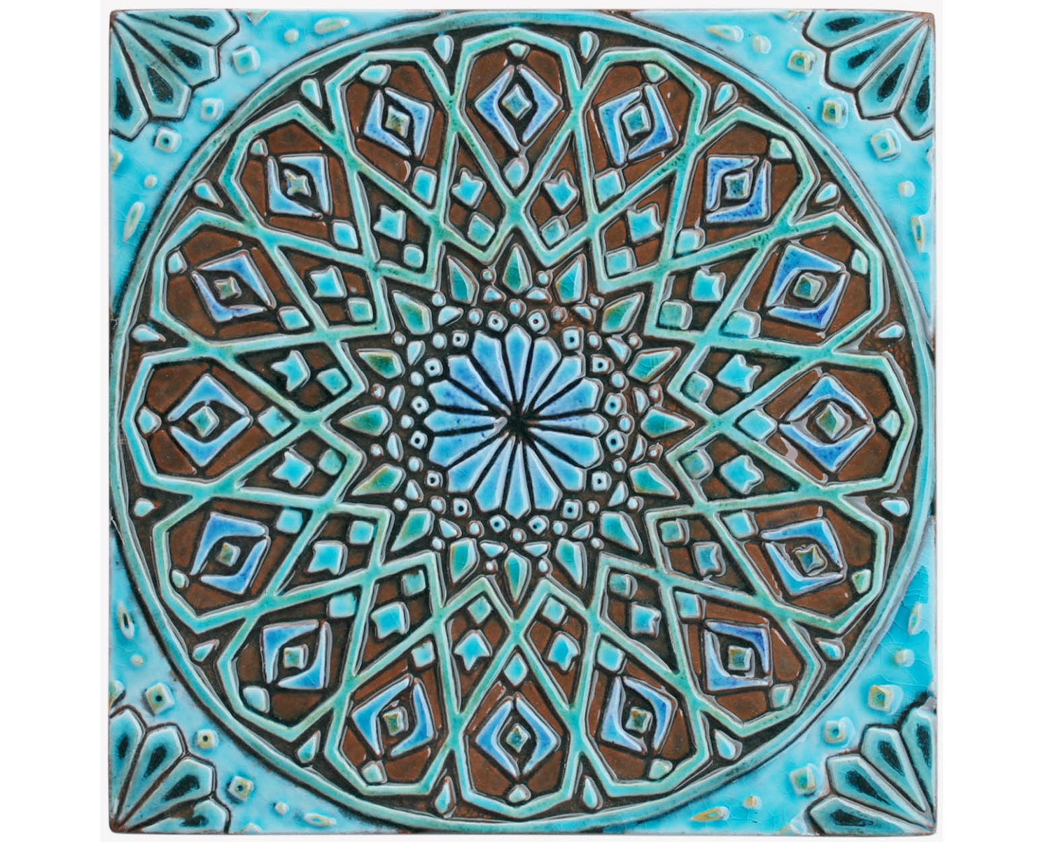 Moroccan wall hanging made from ceramic exterior wall art zoom dailygadgetfo Choice Image