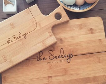 Gift Set: Chopping Block & Matching Cheese Board Gift, Butcher Block, Custom Cutting Board, Personalized Cutting Board, Couple Cutting Board