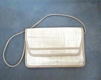 Vintage 1980's purse WOVEN ENVELOPE style bag