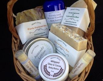 Customizable Natural Skin Care Gift Basket