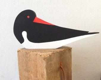 Oystercatcher -hand cut wooden seabird