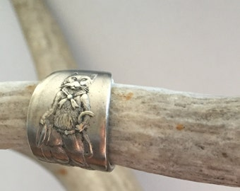 Antique Puss In Boots Spoon Ring
