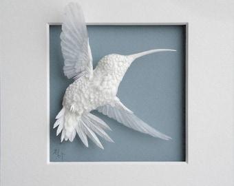 Paper Hummingbird Sculpture Art Dancer Made to Order