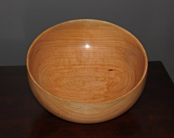 "11.5"" X 5"" Cherry Wood Fruit Bowl"