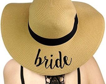 Bridal Embroidered CC Brand Floppy Sun Hat