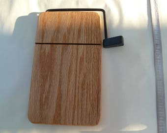 Wooden Cheese slicer Board with stainless steel wire, different wood species available please inquire