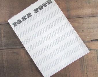 Take Note Notepaper Vintage Notepad Paper Ephemera Scrapbook Junk Journal Supply