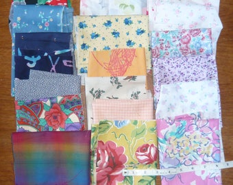 450 grammes of scrap cotton fabric, various colours and sizes