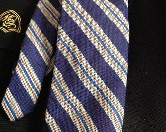 70s Jos. A. Bank Wool Striped Tie Necktie Mens Wide