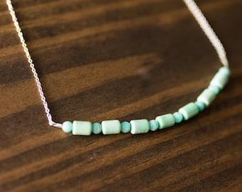 Variscite + Amazonite Chain Necklace