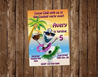 Olaf Birthday Party Invitation