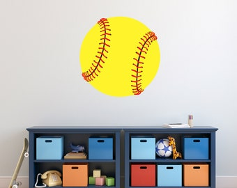 Softball - Printed Sports Wall Decals