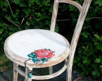 Vintage Rose Shabby Chair