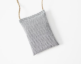 Car Air Freshener Lavender Sachet, Car Accessories for Women, Modern Stripes Black and White, Summer Outdoors