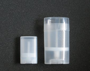 Oval Twist Tube for Deodorant and Solid Lotion Choose a Small or Large Size Clear BPA BPS Free Plastic Cosmetic Container No Minimum Order