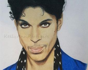 PRINCE- Drawing of Prince, Celebrity Portrait, original artwork.