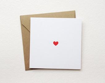 "heart - mini note card - (2.5"" x 2.5"")"