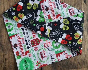 Holiday Dog Bandana - Mittens//Christmas