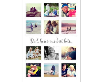 Personalised Father's Day Photo Collage Digital File