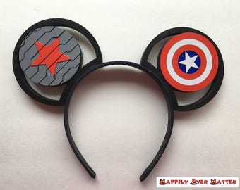 Captain America Winter Soldier IllusionEars Headband
