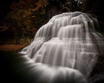 Photograph Fine Art Ithaca New York Waterfall Nature Print
