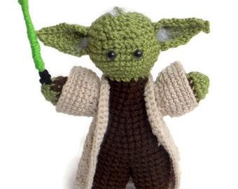 Master Yoda Amigurumi. Star Wars Crochet. Handmade Plush Toy. Made to Order.