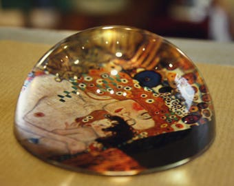The Three Ages of Woman (Klimt) Paperweight, Gustav Klimt, Mother and Chirld, Madonna, Artistic Gift, For Her, Mother's Day