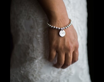 Wedding Gift Bead Bracelet, Beaded Bracelet, Personalized 925 Sterling Silver Jewelry