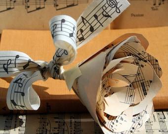 A Vintage Music Score Paper Flower, Paper Rose, Sheet Music, Wedding Keepsake, Mother of the Bride, Table Decor, Love, Anniversary.