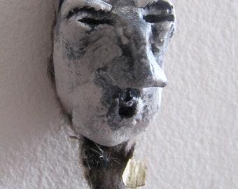 Sculpture Ceramic Figurine Wall Art - The Whistler