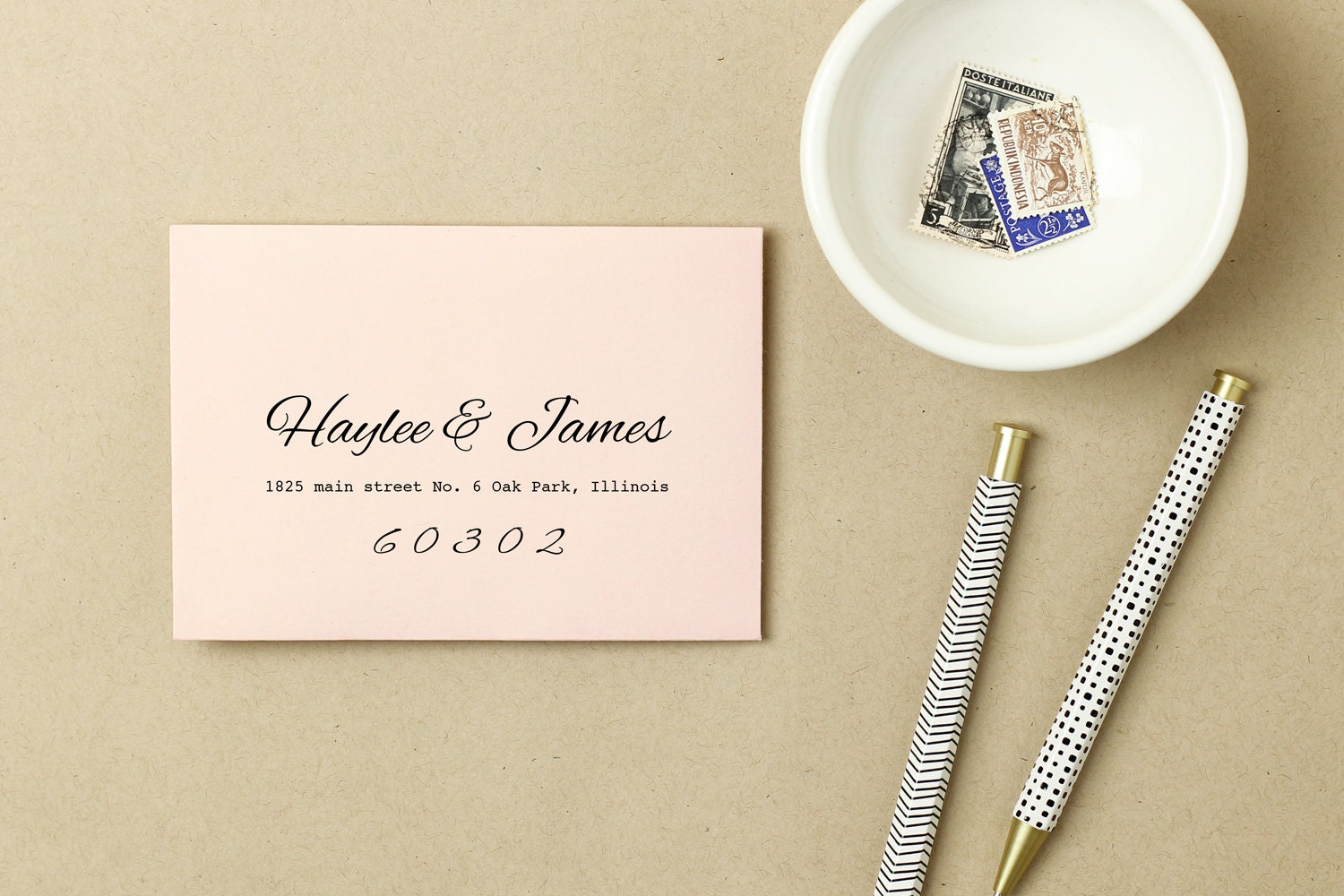 Printable Wedding Envelope Template INSTANT DOWNLOAD Peach - Word greeting card template mac