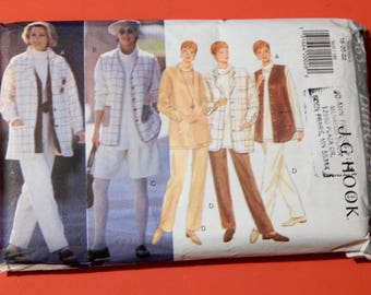 Butterick 3632 Easy to sew jacket, vest, top, shorts and pants pattern designed by J.G. Hook Uncut Sizes 18, 20 and 22
