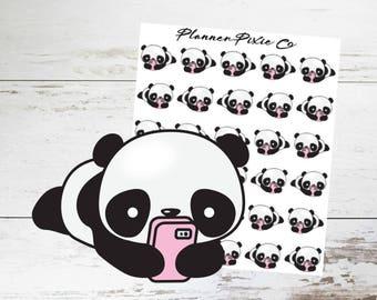 Panda Planner Stickers // Cell Phone // Social Media // 012